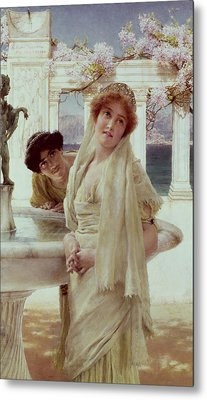 A Difference Of Opinion Metal Print by Sir Lawrence Alma-Tadema