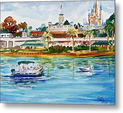 A Disney Sort Of Day Metal Print by Laura Bird Miller