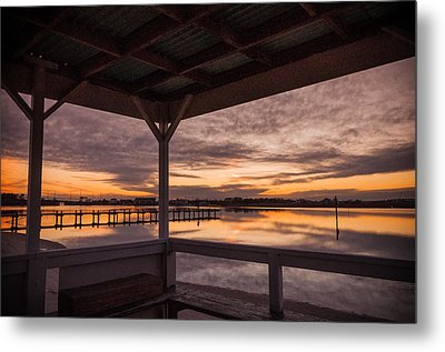 A Dockside View Metal Print by Kristopher Schoenleber