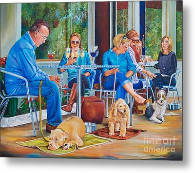 A Dog's Life Metal Print by AnnaJo Vahle
