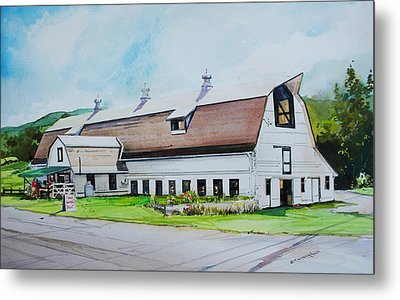 A Farmstand  In The Berkshires Metal Print by P Anthony Visco