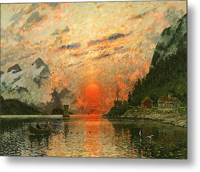 A Fjord Metal Print by Adelsteen Normann