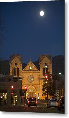 A Full Moon Rises Over  Cathedral Metal Print by Stephen St. John