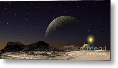A Futuristic Space Scene Inspired Metal Print by Frank Hettick