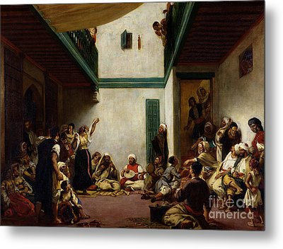 A Jewish Wedding In Morocco Metal Print by Ferdinand Victor Eugene Delacroix
