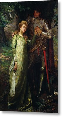 A Knight And His Lady Metal Print by William G Mackenzie