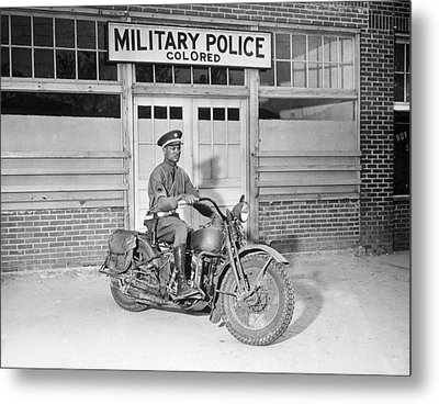 A Military Police Officer Posed Metal Print by Everett