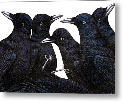 A Murder Of Crows Metal Print by Don McMahon