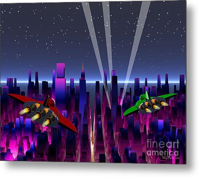 A Night On The Town Metal Print by Walter Oliver Neal