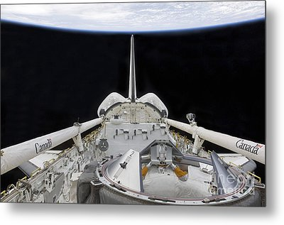 A Partial View Of Space Shuttle Metal Print by Stocktrek Images