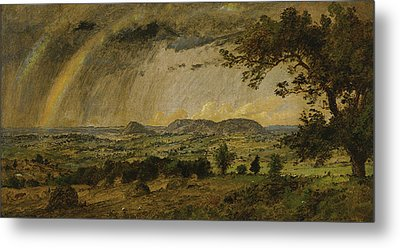 A Passing Shower Over Mts Adam And Eve Metal Print by Jasper Francis Cropsey