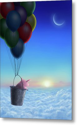 A Pigs Journey Metal Print by A A