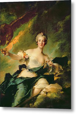 A Portrait Of Anne Josephe Bonnnier De La Mossau  Metal Print by Jean Marc Nattier