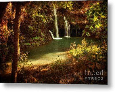 A Resting Place At Dripping Springs Metal Print by Tamyra Ayles
