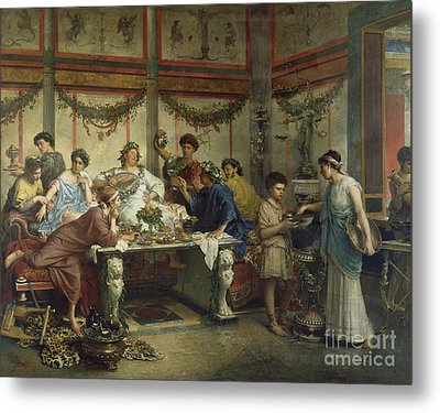 A Roman Feast Metal Print by Celestial Images