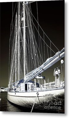 A Sailboat In Marseille Metal Print by John Rizzuto