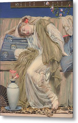 A Sleeping Girl Metal Print by Mountain Dreams