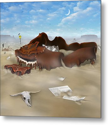 A Slow Death In Piano Valley Sq Metal Print by Mike McGlothlen