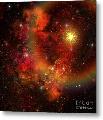 A Star Explodes Sending Out Shock Waves Metal Print by Corey Ford