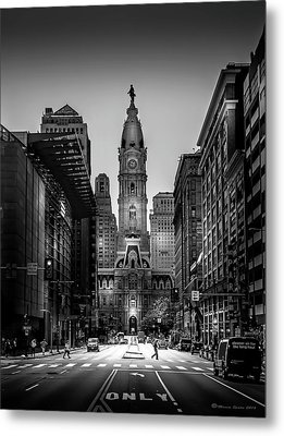 A Step Above B/w Metal Print by Marvin Spates