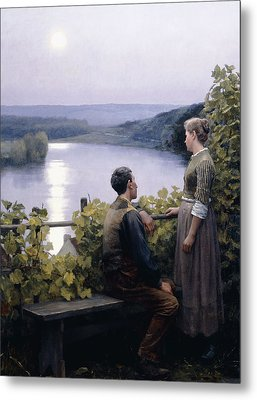 A Summer Evening Metal Print by Daniel Ridgway Knight