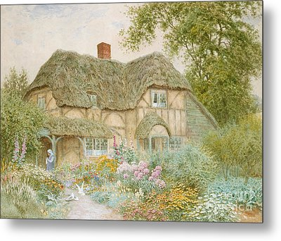 A Surrey Cottage Metal Print by Arthur Claude Strachan