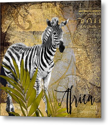 A Taste Of Africa Zebra Metal Print by Mindy Sommers