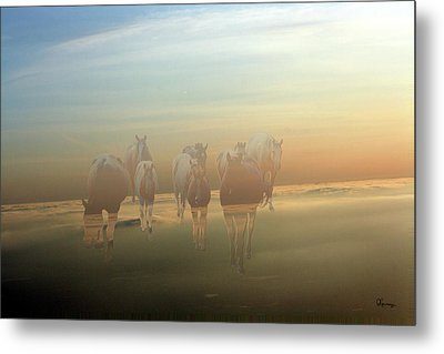 A Touch Of Horse Heaven Metal Print by Andrea Lawrence