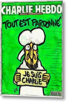 A Tribute For Charlie Hebdo - Da Metal Print by Leonardo Digenio