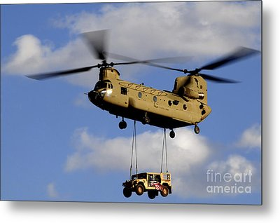 A U.s. Army Ch-47 Chinook Helicopter Metal Print by Stocktrek Images