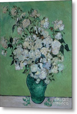 A Vase Of Roses Metal Print by Vincent van Gogh