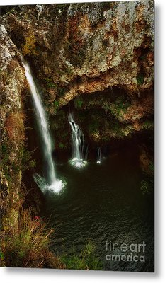 A View From Above The Falls II Metal Print by Tamyra Ayles