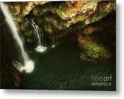 A View From Above The Falls Metal Print by Tamyra Ayles