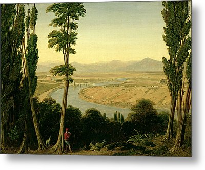 A View Of The Tiber And The Roman Campagna From Monte Mario Metal Print by William Linton