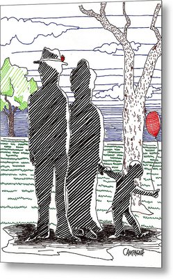 A Walk In The Park Metal Print by Teddy Campagna