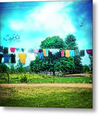 A Woman's Work Is Never Done Metal Print by Tammy Wetzel