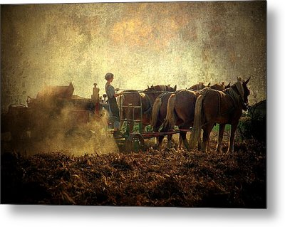 A Woman's Work Is Never Done Metal Print by Trish Tritz