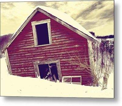 Abandoned Barn Metal Print by Mindy Sommers