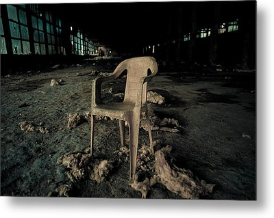 Abandoned Chair Metal Print by Luka Matijevec