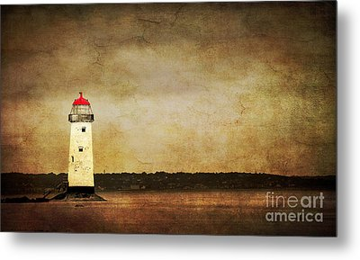 Abandoned Lighthouse Metal Print by Meirion Matthias