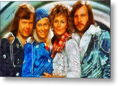 Abba At Eurovision 1974 - Da Metal Print by Leonardo Digenio