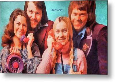 Abba Ring - Watercolor  Style Metal Print by Leonardo Digenio