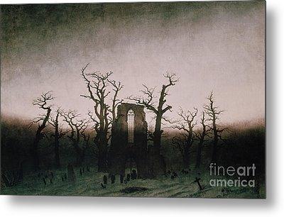 Abbey In The Oakwood Metal Print by Caspar David Friedrich
