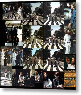 Abbey Road Photo Shoot Metal Print by Paul Van Scott