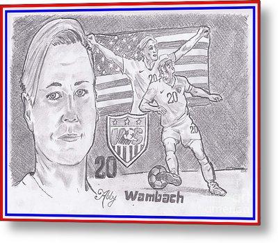 Abby Wambach Metal Print by Chris DelVecchio