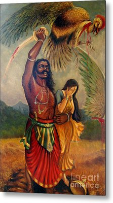 Abduction Of Sita Metal Print by Anup Roy