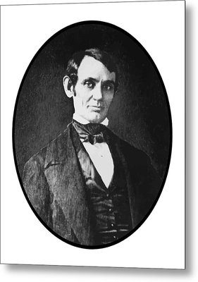 Abe Lincoln As A Young Man  Metal Print by War Is Hell Store