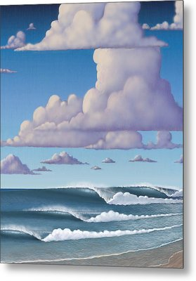 Abeautiful Day At The Beach Metal Print by Tim Foley