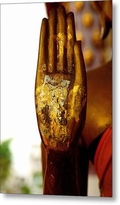 Abhaya Mudra IIi In Colour Metal Print by Dean Harte
