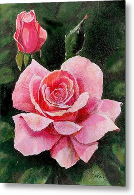 Abigail Rose Metal Print by Edward Farber